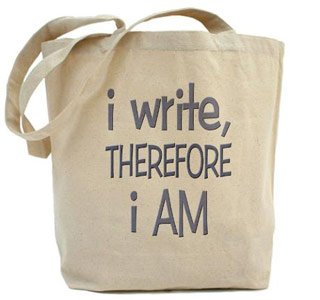 i write tote bag