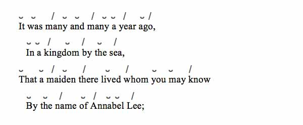 scansion annabel lee