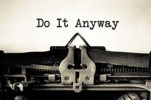 writing tips do it anyway