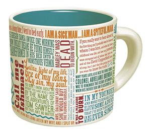 first lines literary mug